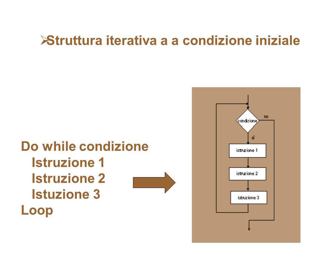 Struttura iterativa a a condizione iniziale