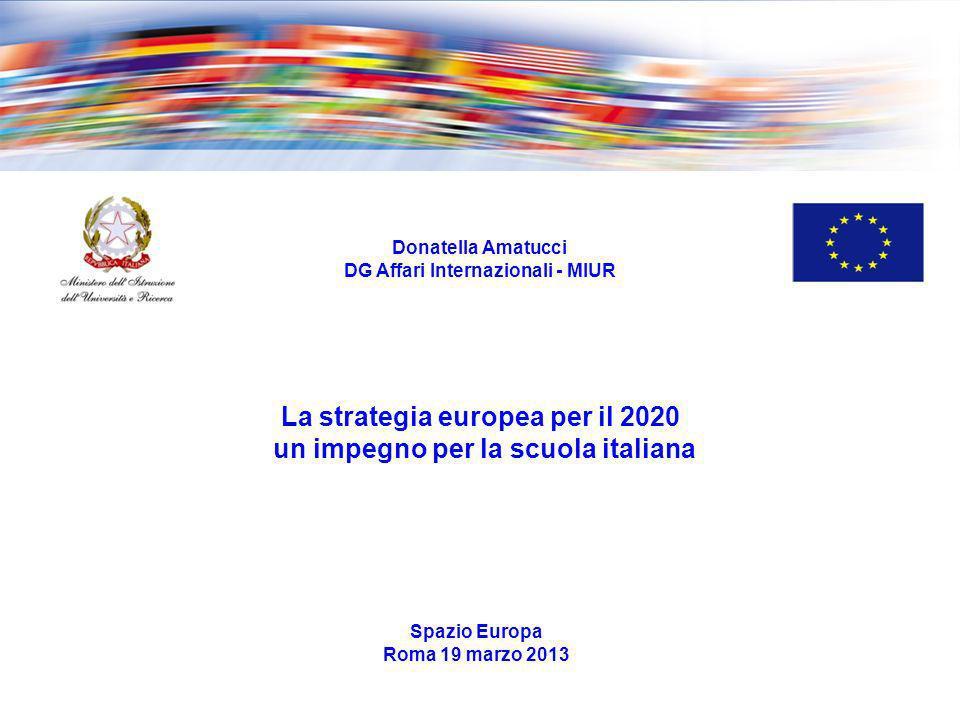 La strategia europea per il 2020 un impegno per la scuola italiana