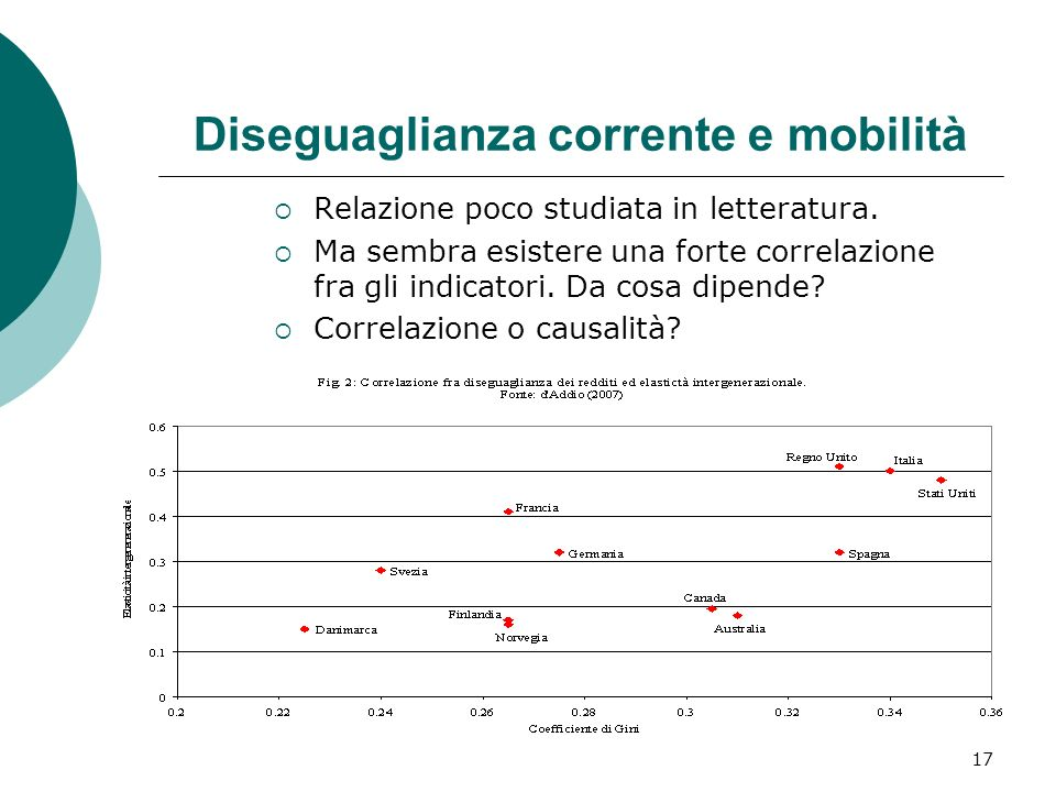 Diseguaglianza corrente e mobilità