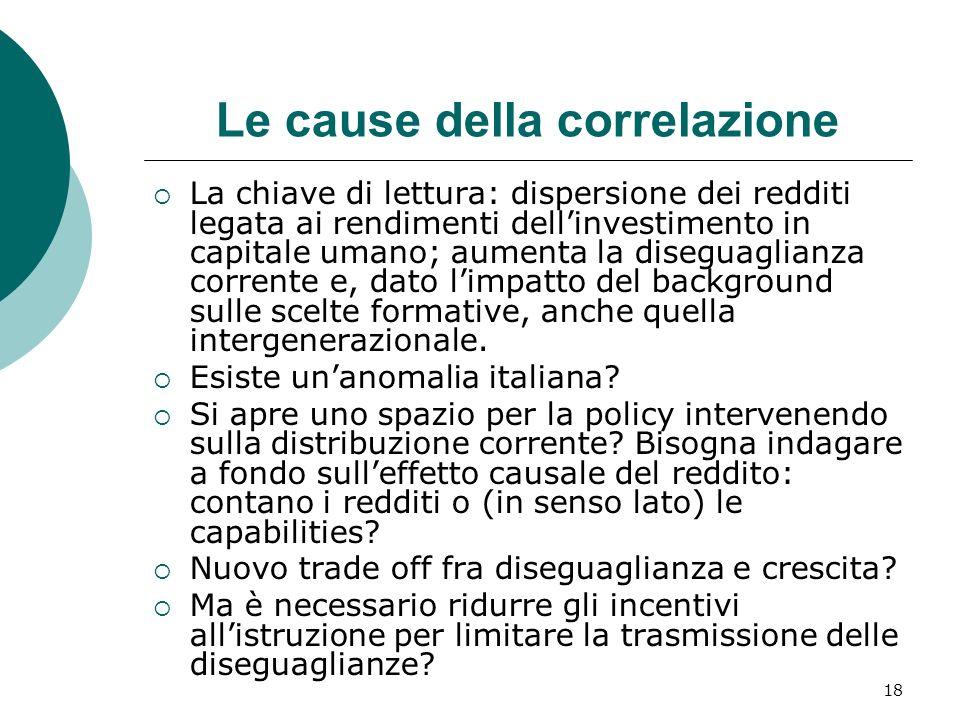 Le cause della correlazione