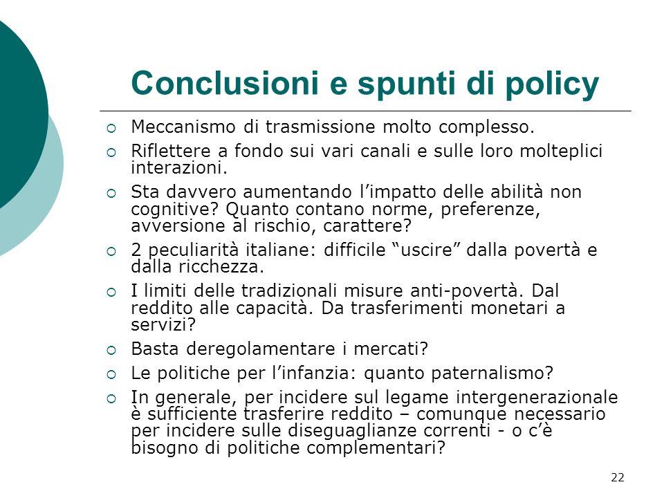 Conclusioni e spunti di policy
