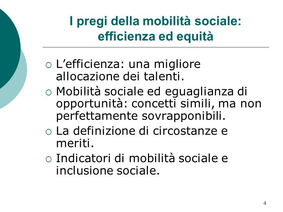 I pregi della mobilità sociale: efficienza ed equità