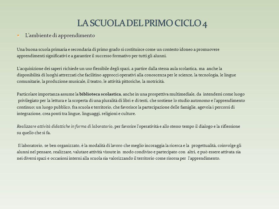 LA SCUOLA DEL PRIMO CICLO 4