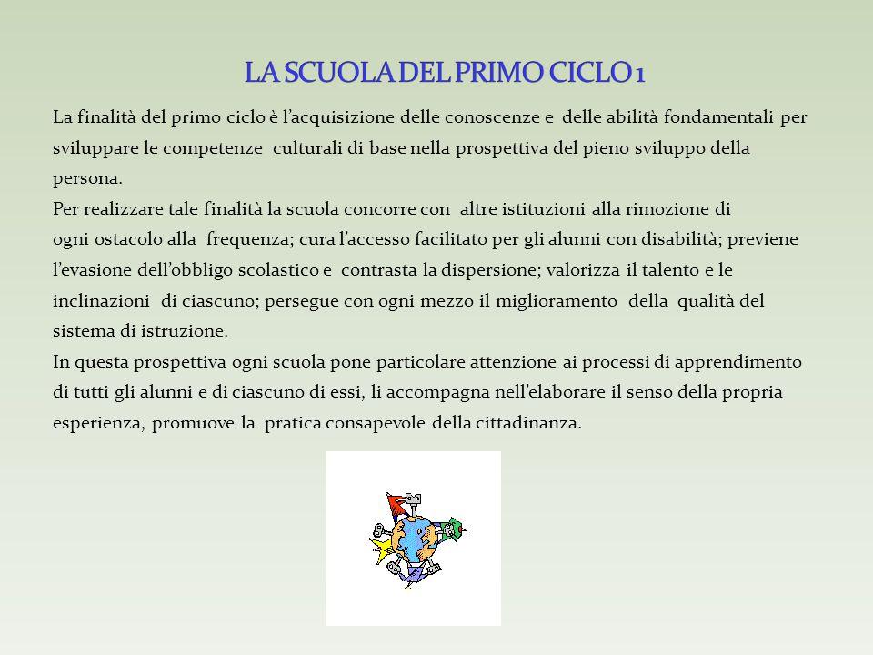 LA SCUOLA DEL PRIMO CICLO 1