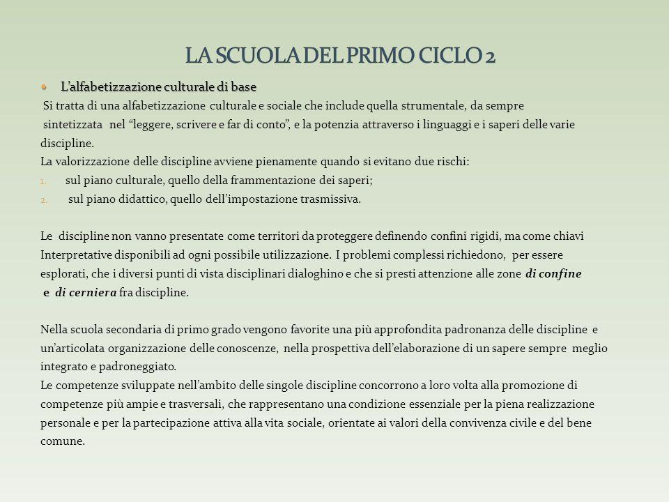 LA SCUOLA DEL PRIMO CICLO 2