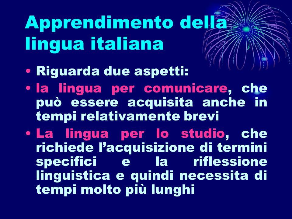 Apprendimento della lingua italiana