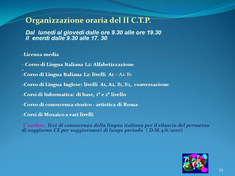 Corsi Centro Territoriale Permanente (C.T.P.)