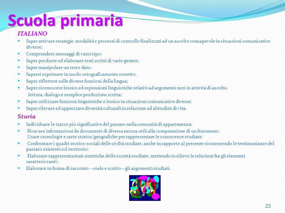 Scuola primaria ITALIANO Storia