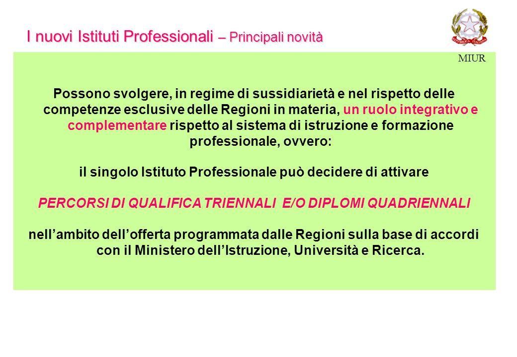 I nuovi Istituti Professionali – Principali novità