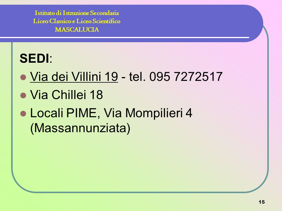 Locali PIME, Via Mompilieri 4 (Massannunziata)