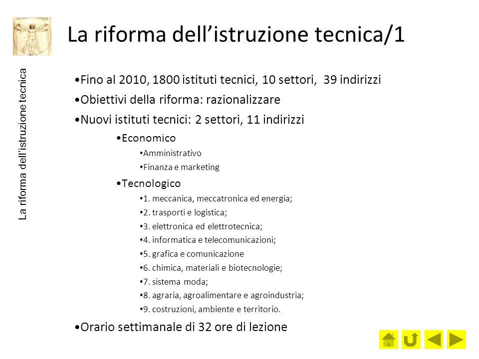 La riforma dell'istruzione tecnica/1
