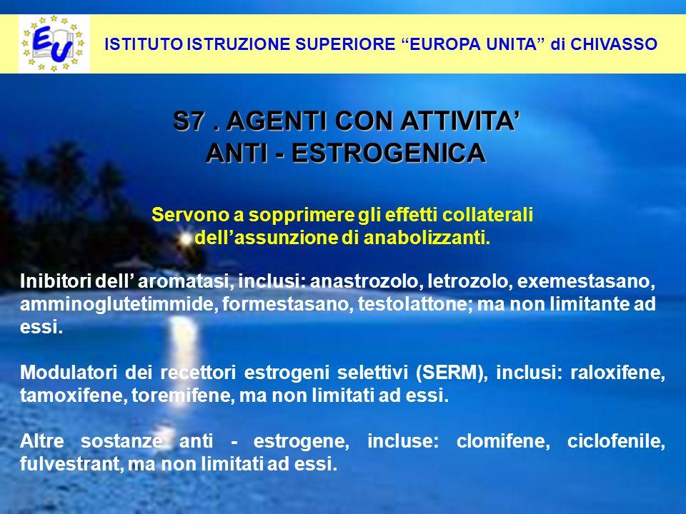 S7 . AGENTI CON ATTIVITA' ANTI - ESTROGENICA