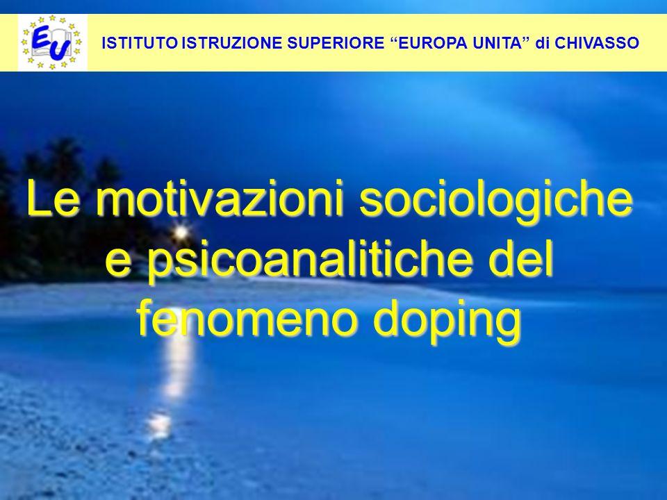 Le motivazioni sociologiche e psicoanalitiche del fenomeno doping
