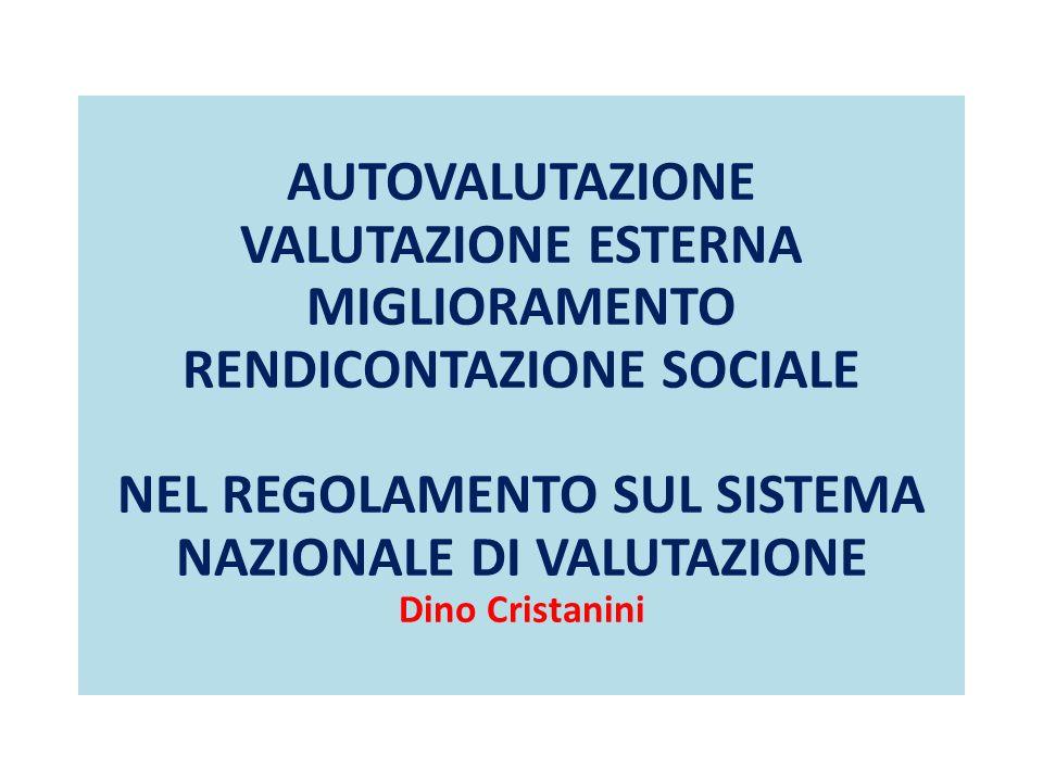 RENDICONTAZIONE SOCIALE NEL REGOLAMENTO SUL SISTEMA