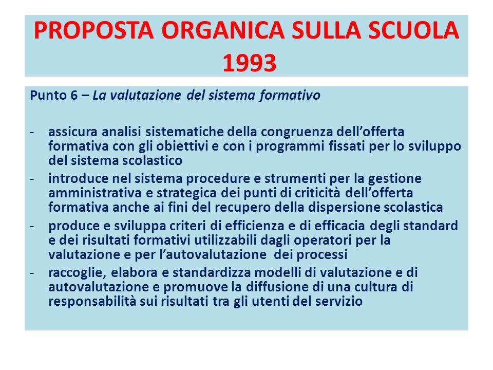 PROPOSTA ORGANICA SULLA SCUOLA 1993