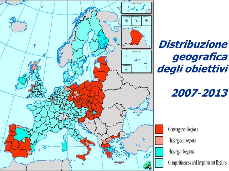 Distribuzione geografica degli obiettivi 2007-2013