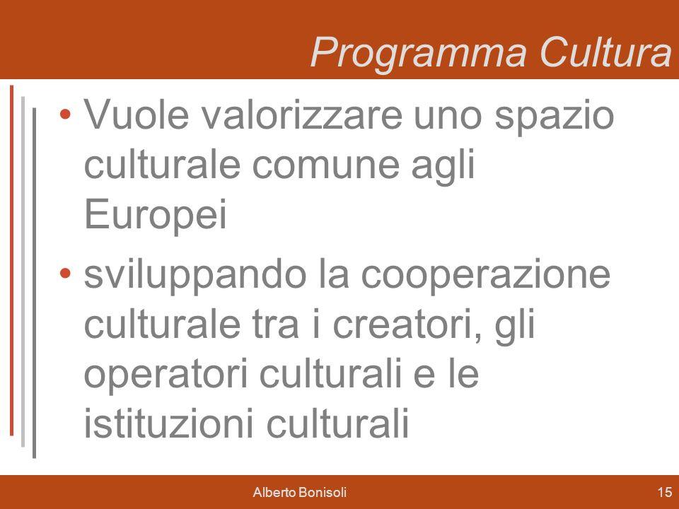 Vuole valorizzare uno spazio culturale comune agli Europei