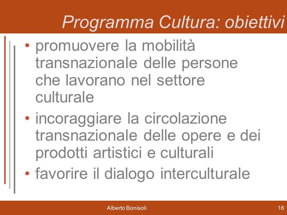 Programma Cultura: obiettivi