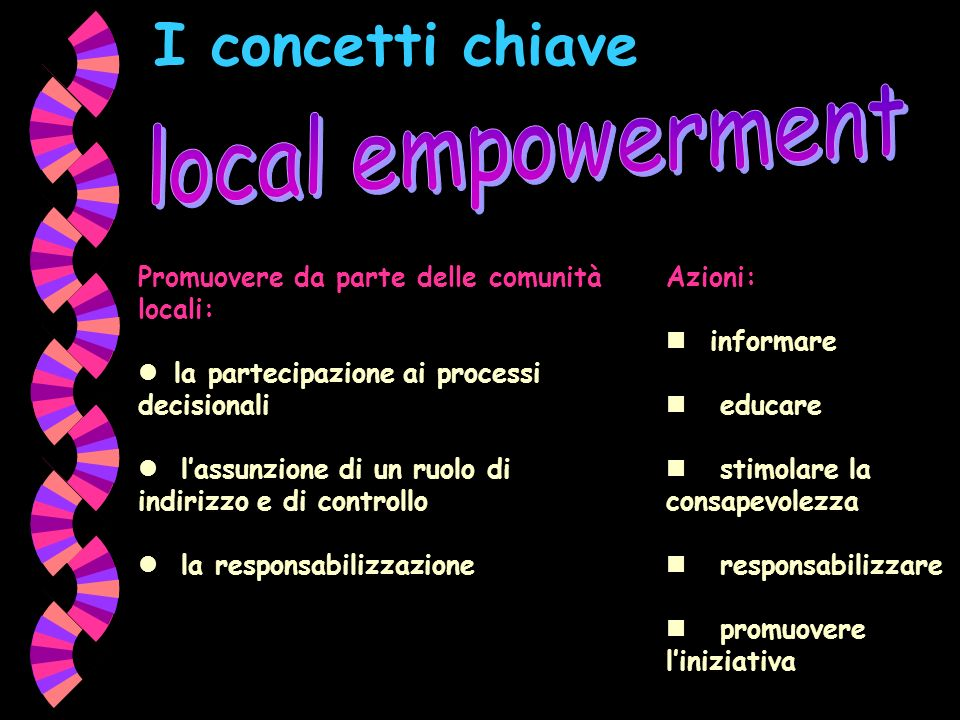 I concetti chiave local empowerment
