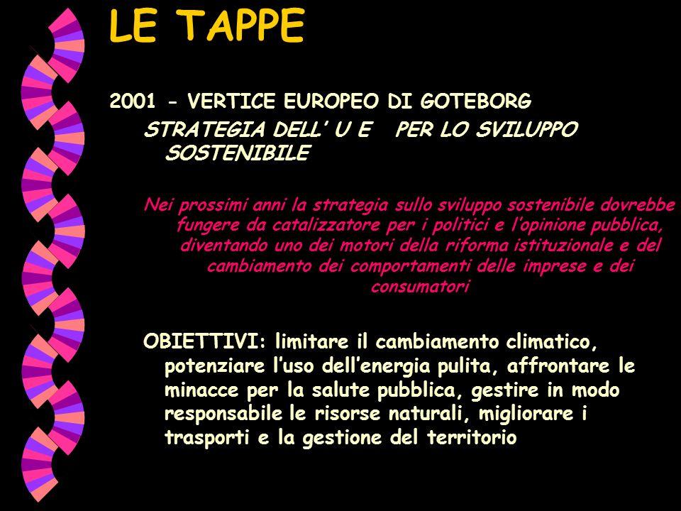 LE TAPPE 2001 - VERTICE EUROPEO DI GOTEBORG