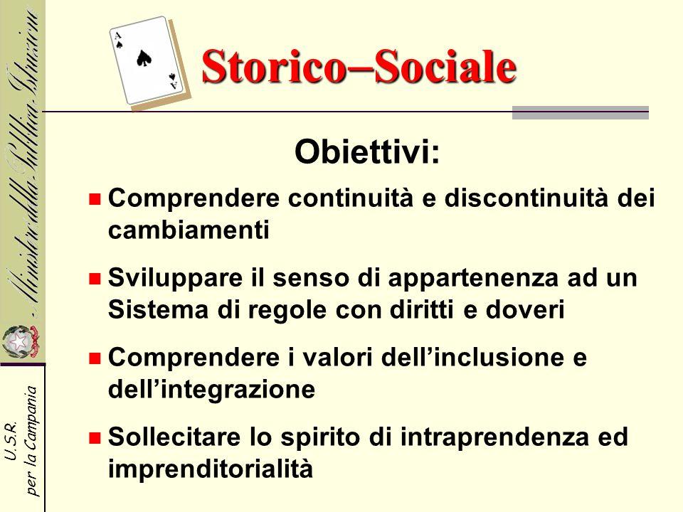 StoricoSociale Obiettivi: