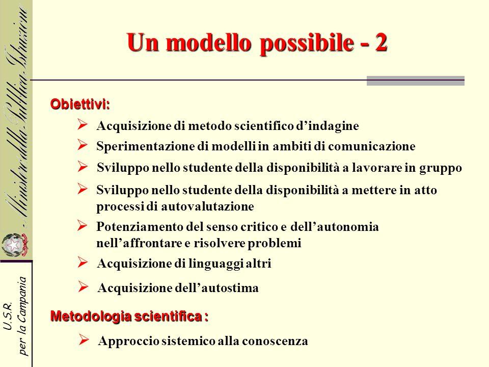 Un modello possibile - 2 Obiettivi:
