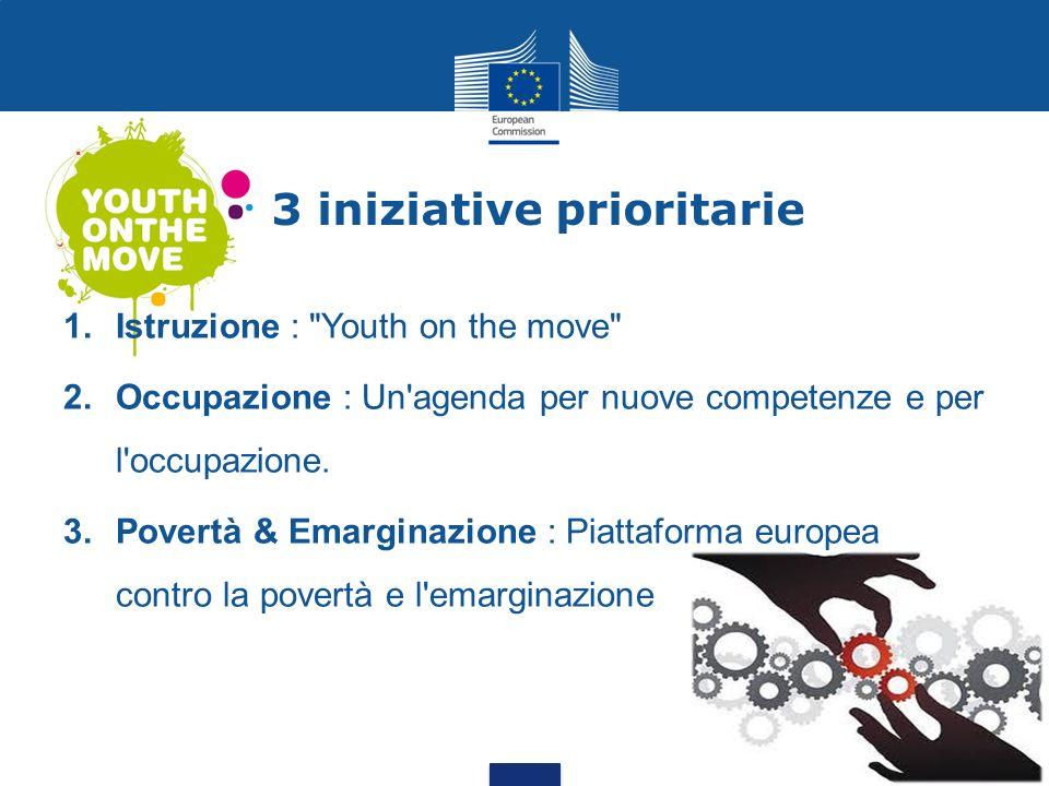 3 iniziative prioritarie