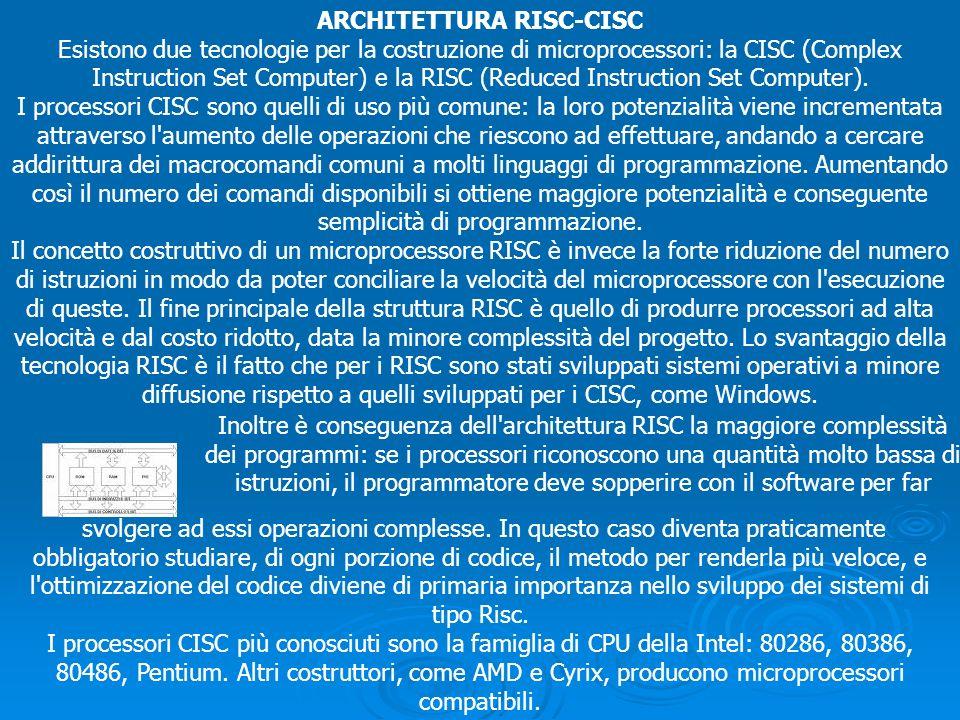 ARCHITETTURA RISC-CISC