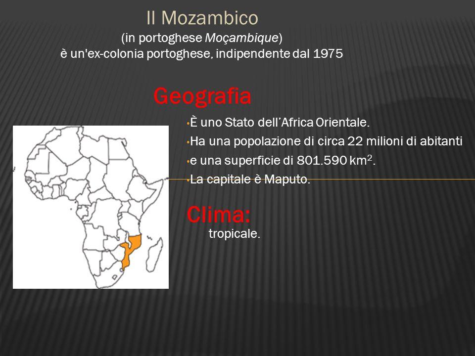 Geografia Clima: Il Mozambico (in portoghese Moçambique)