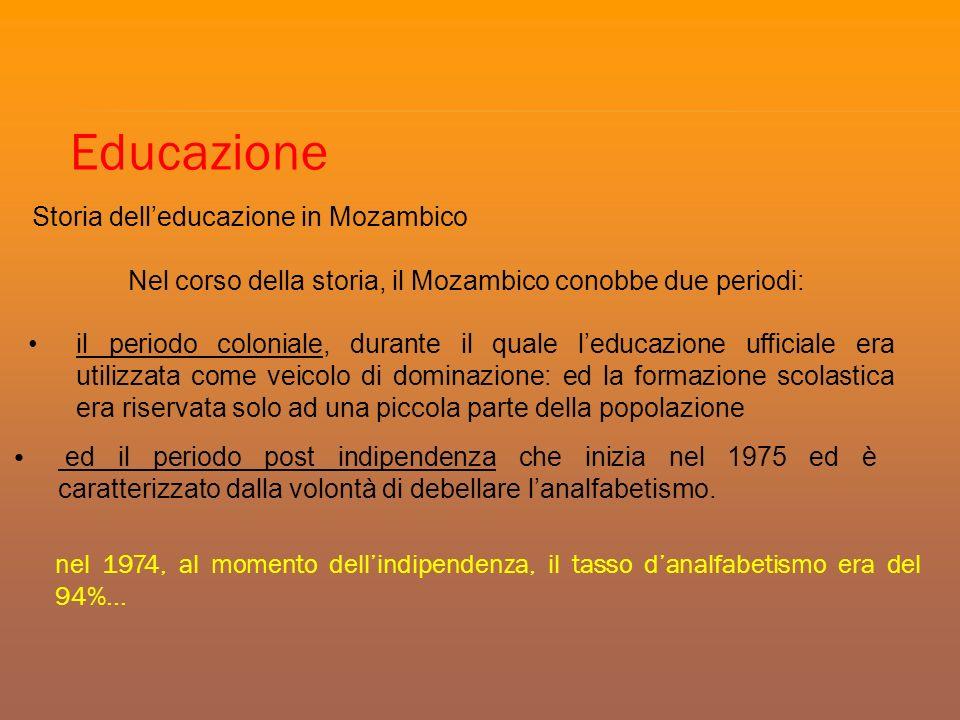 Educazione Storia dell'educazione in Mozambico