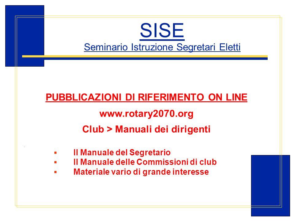 SISE Seminario Istruzione Segretari Eletti