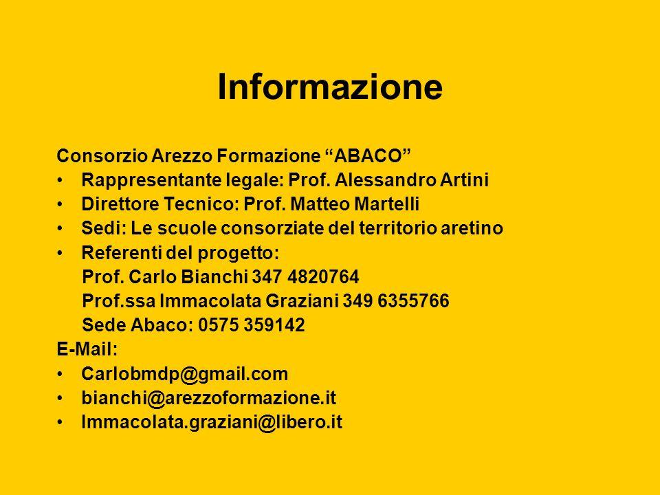 Informazione Consorzio Arezzo Formazione ABACO