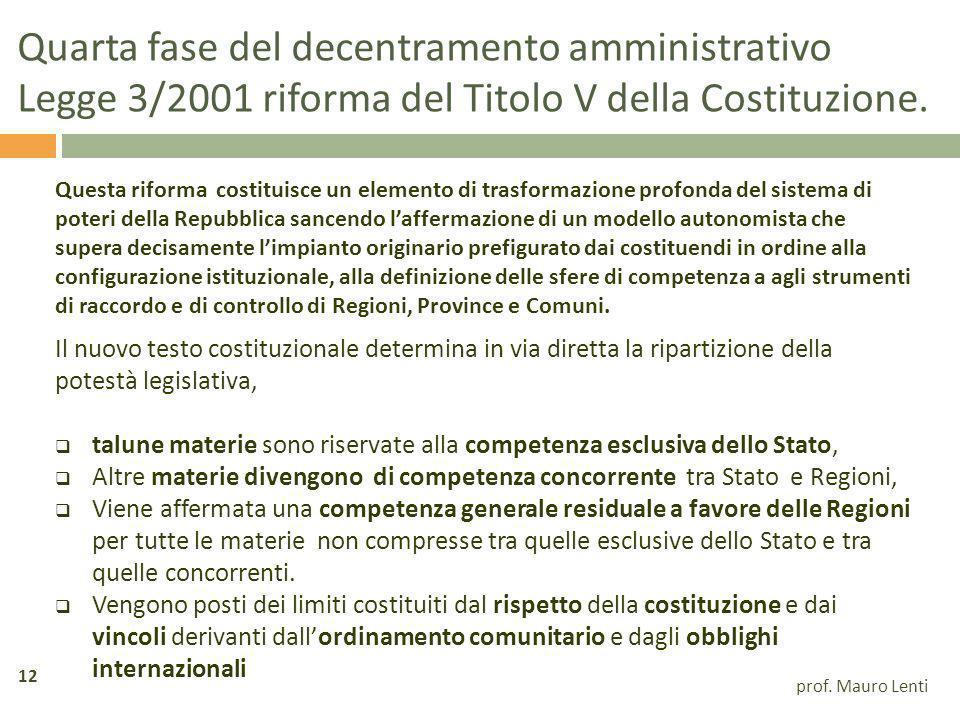 Quarta fase del decentramento amministrativo
