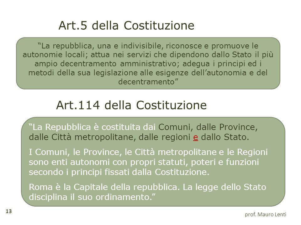 Art.5 della Costituzione