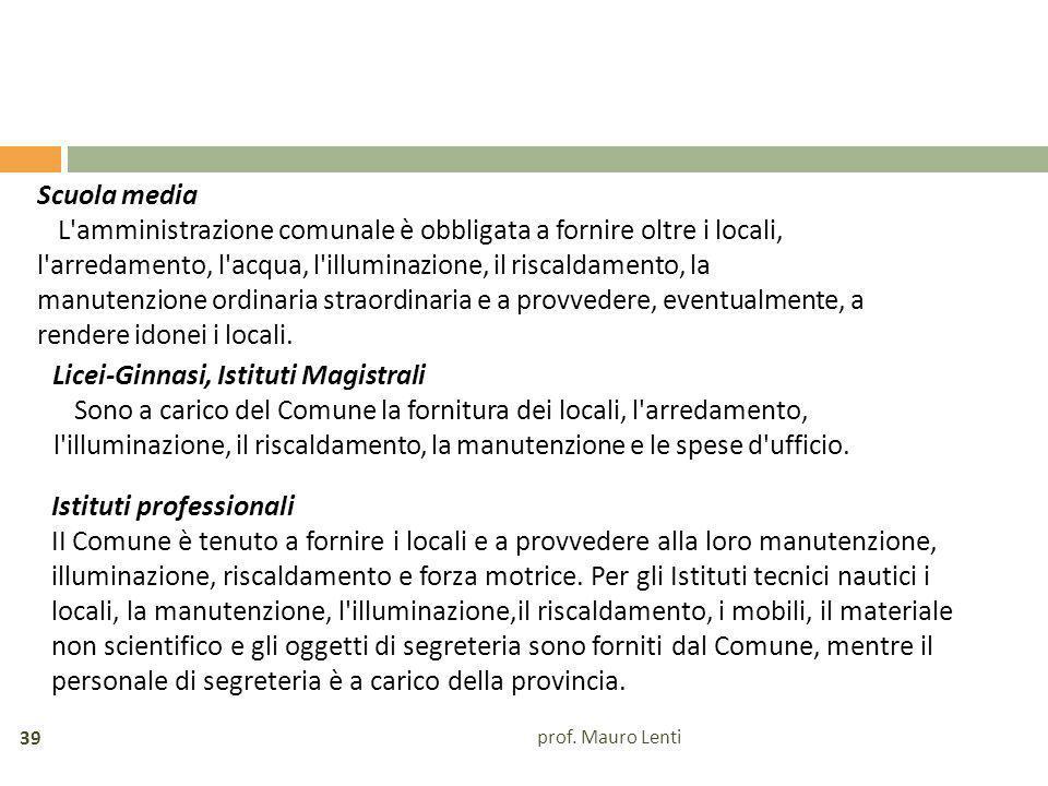 Licei-Ginnasi, Istituti Magistrali