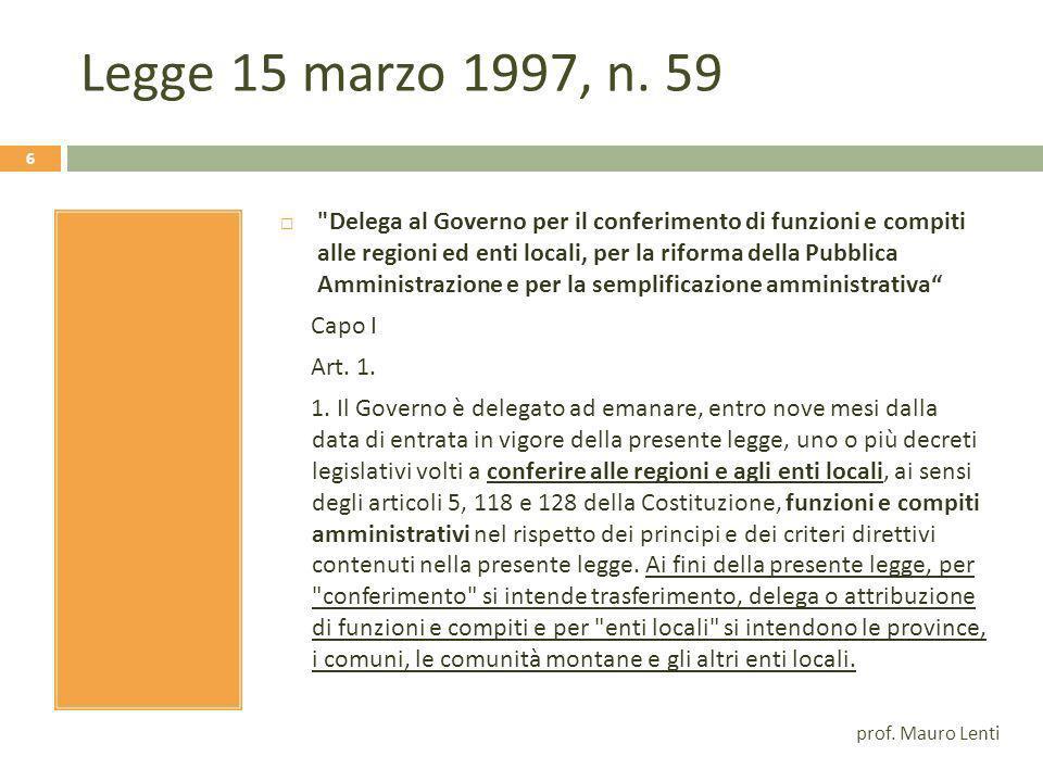 Legge 15 marzo 1997, n. 59
