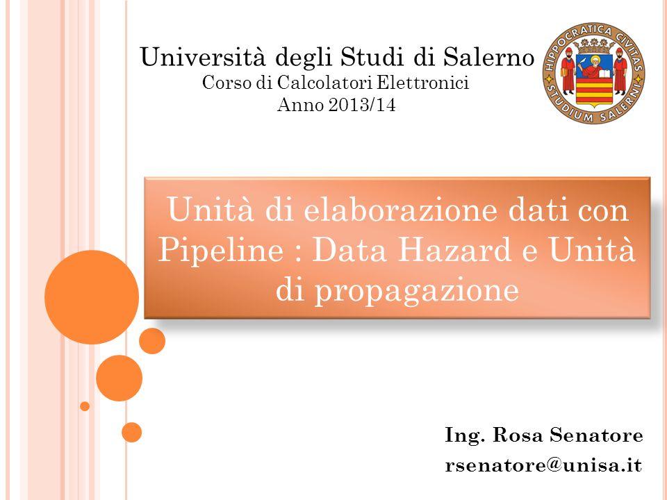 Ing. Rosa Senatore rsenatore@unisa.it