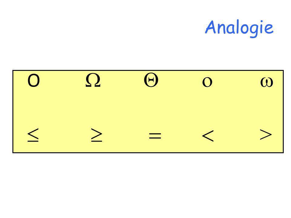 Analogie O  Q o    = < >