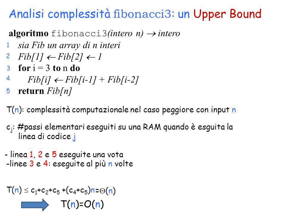 Analisi complessità fibonacci3: un Upper Bound