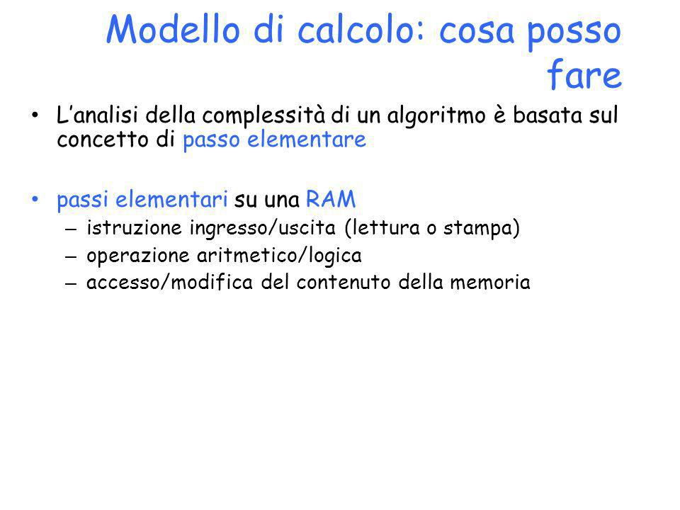 Modello di calcolo: cosa posso fare