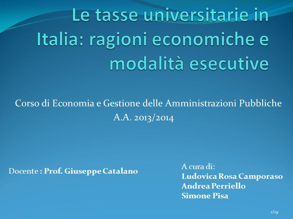 Le tasse universitarie in Italia: ragioni economiche e modalità esecutive