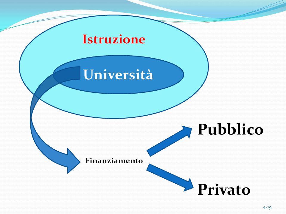 Istruzione Università Pubblico Finanziamento Privato