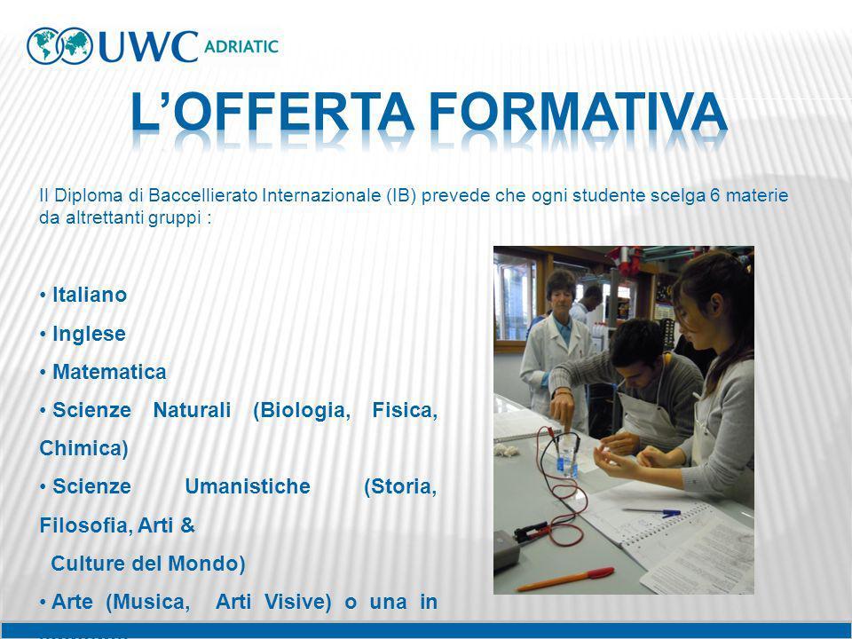 L'OFFERTA FORMATIVA Italiano Inglese Matematica