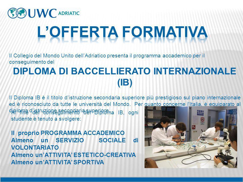 DIPLOMA DI BACCELLIERATO INTERNAZIONALE (IB)