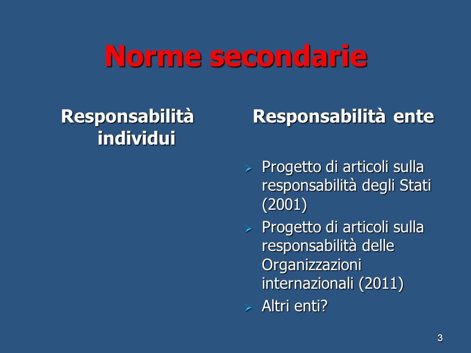 Responsabilità individui