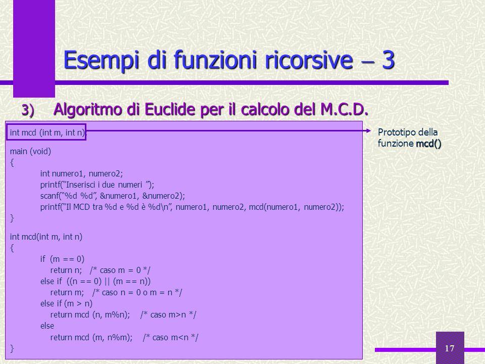 Esempi di funzioni ricorsive  3