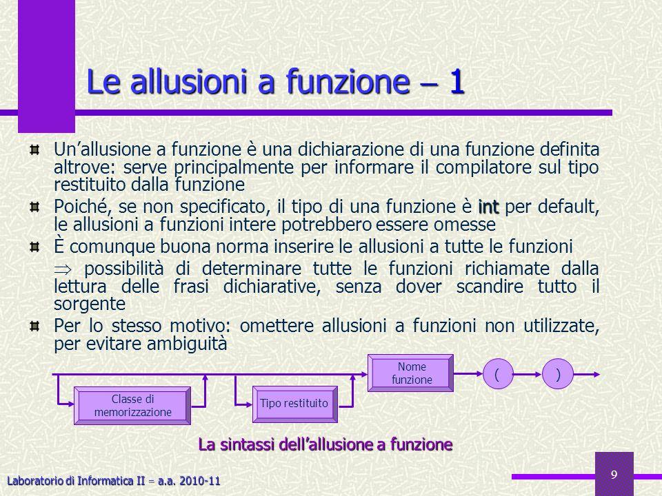 Le allusioni a funzione  1