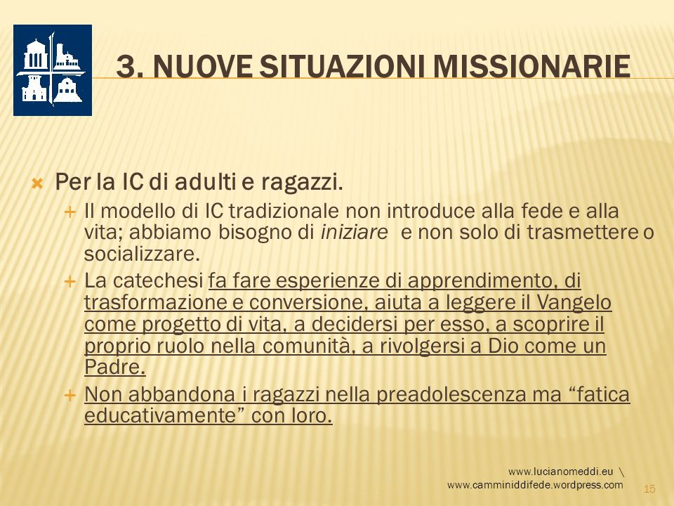 3. Nuove situazioni missionarie
