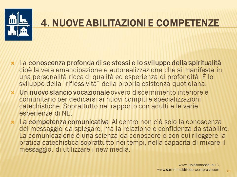 4. Nuove abilitazioni e competenze