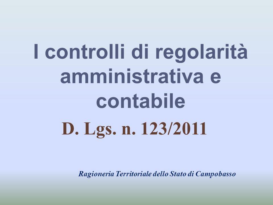 I controlli di regolarità amministrativa e contabile